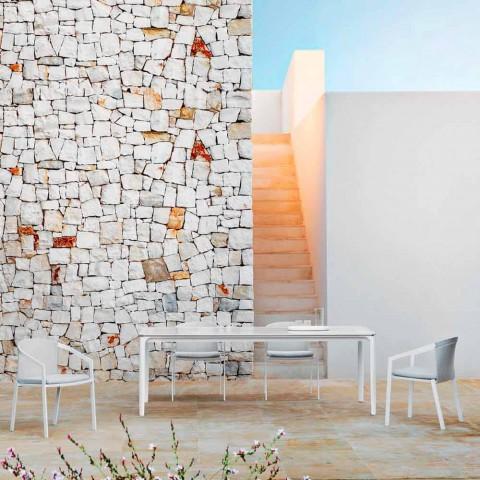 Ausziehbarer Esstisch im Freien 318 cm aus Aluminium und Steinzeug - Filomena