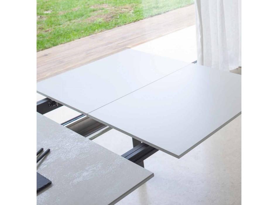 Ausziehbarer Esstisch bis 180 cm aus Keramik Made in Italy - Pitagora