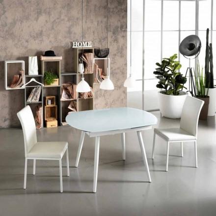 Esstisch verlängerbar mit Glas Tischplatte Japan New
