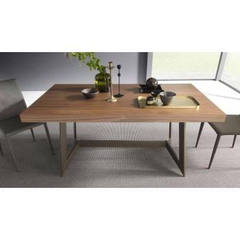 Ausziehbarer Esstisch Bis zu 160 cm aus Holz Made in Italy - Eugenia