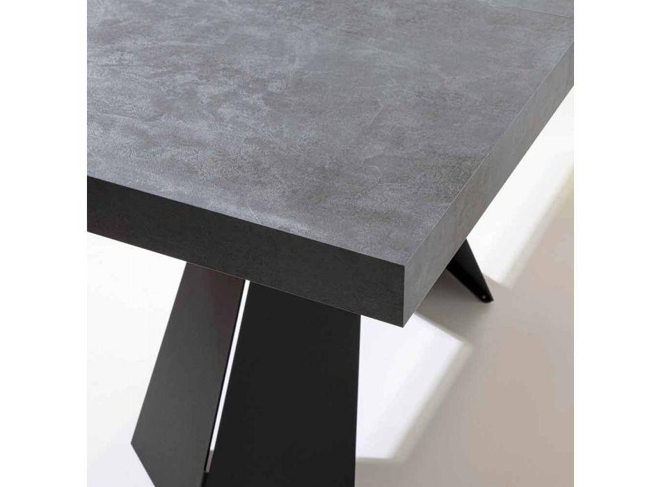 Ausziehbarer Esstisch Bis zu 220 cm mit Melaminholzplatte - Amiro