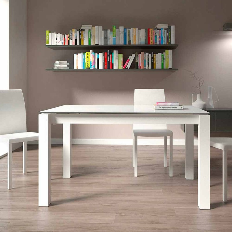 Ausziehbarer Esstisch Bis zu 220 cm Modernes Design Made in Italy - Minno