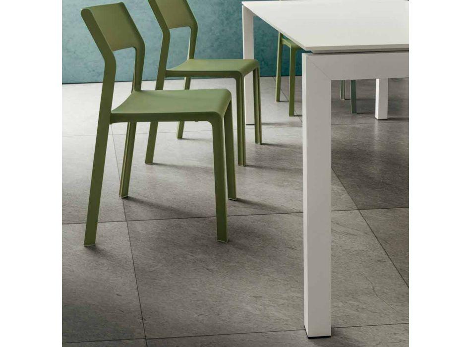 Ausziehbarer Esstisch bis 240 cm in Fenix Made in Italy - Monolith