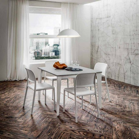 Ausziehbarer Esstisch Bis zu 252 cm in HPL Made in Italy - Efisto