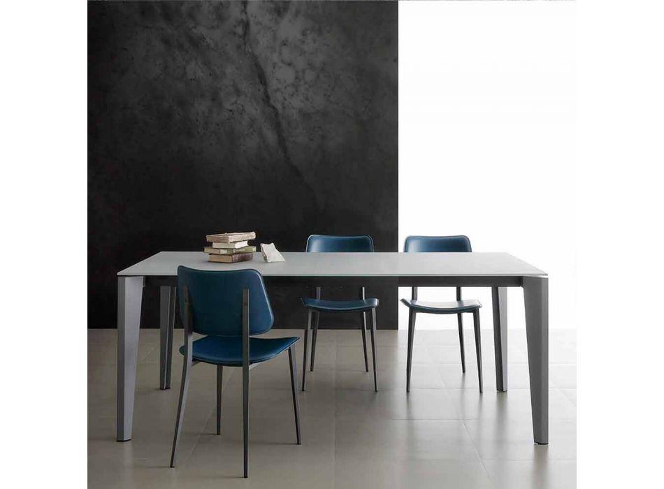 Ausziehbarer Esstisch Bis zu 290 cm in Made in Italy Crystal - Polonio