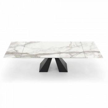 Ausziehbarer Esstisch bis 300 cm in Made in Italy Hypermarble - Dalmata