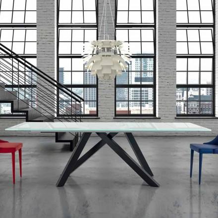 Esstisch ausziehbar bis 300 cm aus Glas Made in Italy – Settimmio