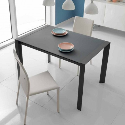 Tisch aus Glas und Metall verlängerbar Oddo