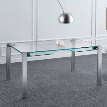 Ausziehbarer Esstisch aus extraleichtem Glas und Metall Made in Italy - Sopot