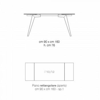 Ausziehbarer Esstisch aus Rauchglas von Dimitri, hergestellt in Italien