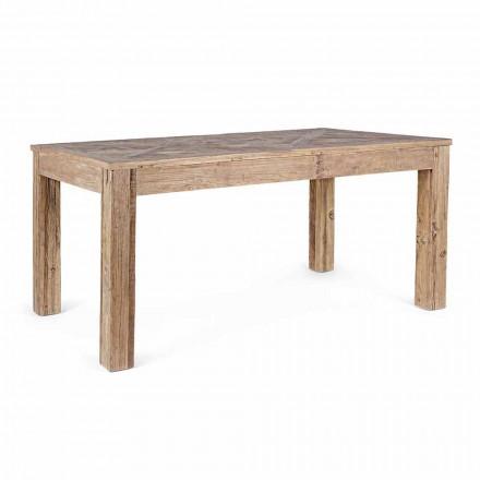 Homemotion Esstisch mit Platte und Beinen aus Ulmenholz - Ulme