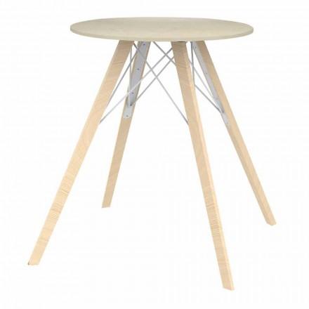 Runder Esstisch aus Holz und Dekton 4 Stück - Faz Wood von Vondom