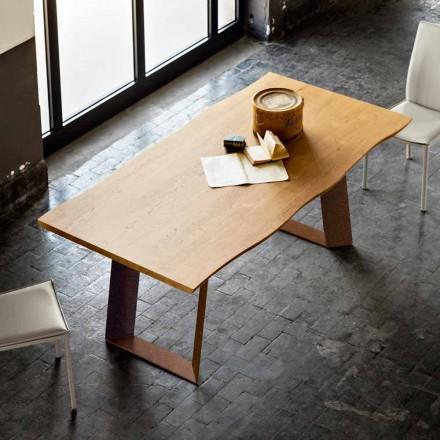 Esstisch 100x200cm aus Holz und Metall in modernem Design Flora