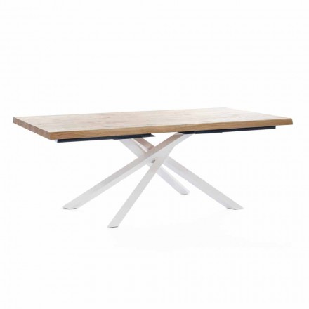Design Esstisch aus Holz und Metall Made in Italy - Skipper