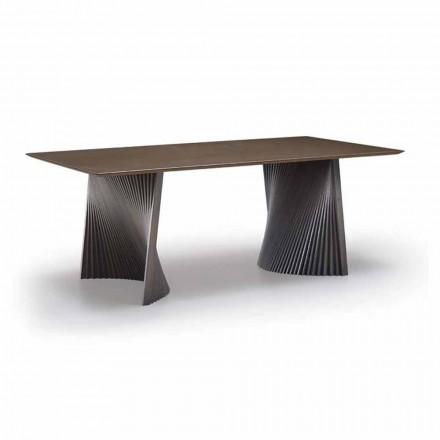 Hochwertiger Esstisch aus Gres und Esche Made in Italy - Charol