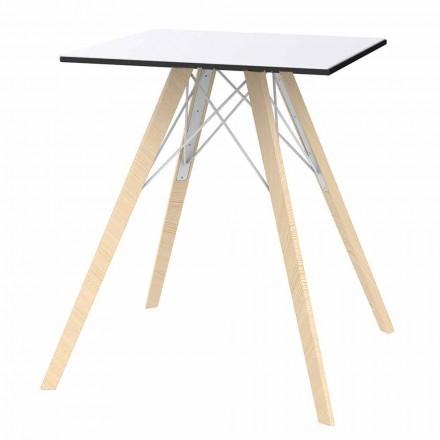 Square Design Holz und HPL Esstisch, 4 Stück - Faz Wood von Vondom