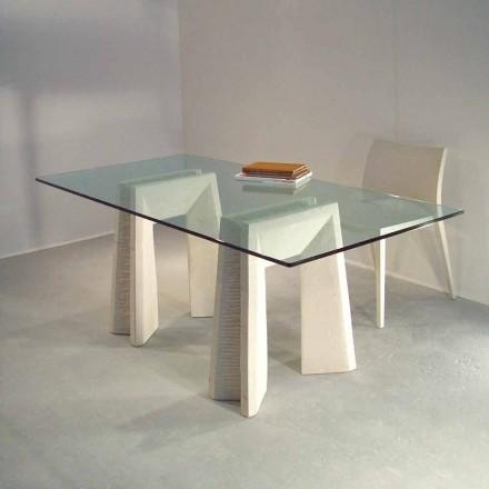 Tisch in modernem Design aus Stein und Kristall Arianna
