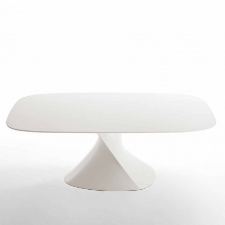 Moderner weißer Esstisch aus MDF mit Verzierung aus Eiche 100x200Clark