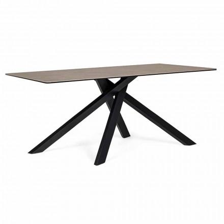Moderner Esstisch mit Keramik- und Glasplatte Homemotion - Ringo