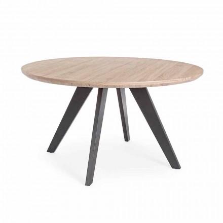 Moderner Esstisch mit runder Platte in Mdf beschichteter Homemotion - Varna