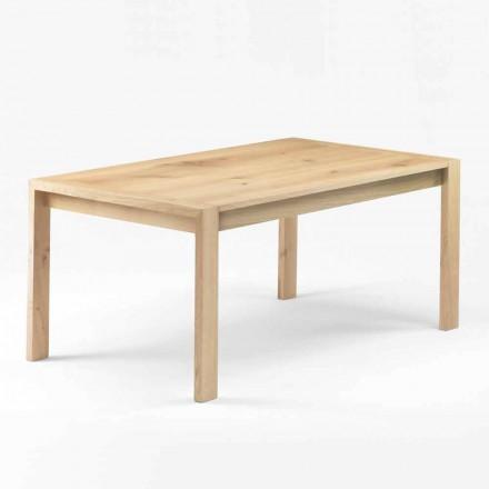 Moderner Esstisch aus massivem Eichenholz Made in Italy - Willow