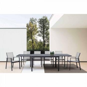 Ausziehbarer Esstisch im Freien Bis zu 270 cm aus Aluminium - Veria