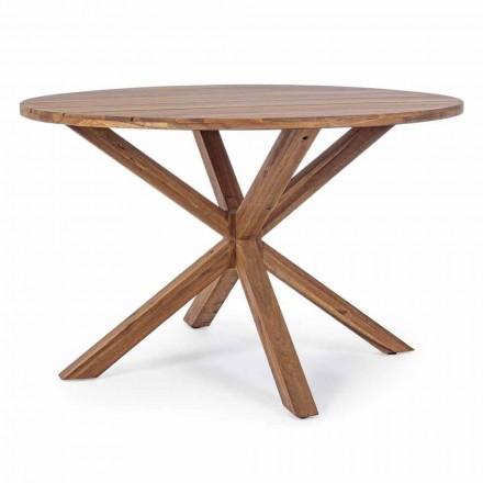 Esstisch im Freien mit runder Akazienholzplatte - Perry