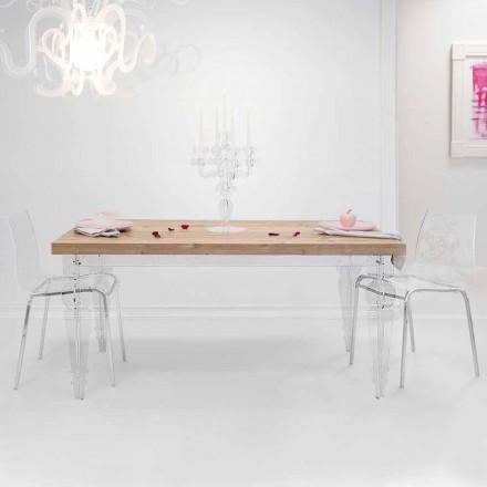 Designtisch aus Tannenholz und Plexiglas, hergestellt in Italien, Castro