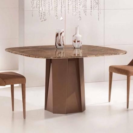 Design Esstisch aus Marmor Emperador Dark 130x130 cm – Nuvolento