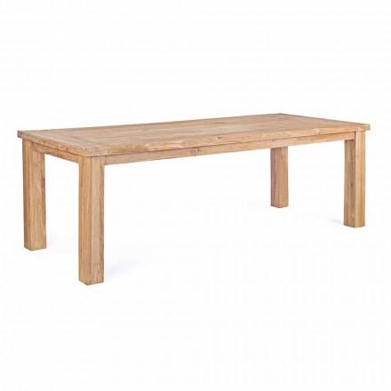 Gartentisch in Design Teakholz, 8 Sitze Homemotion - Hunter