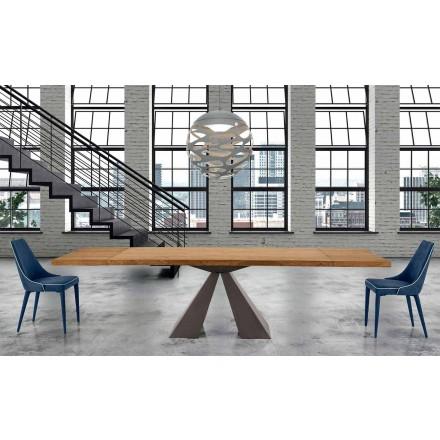 Moderner Esstisch ausziehbar bis 300 cm aus Holz - Dalmata