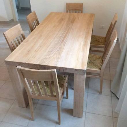 Tisch aus massivem Eschenholz im klassischen Design Made in Italy - Nicea