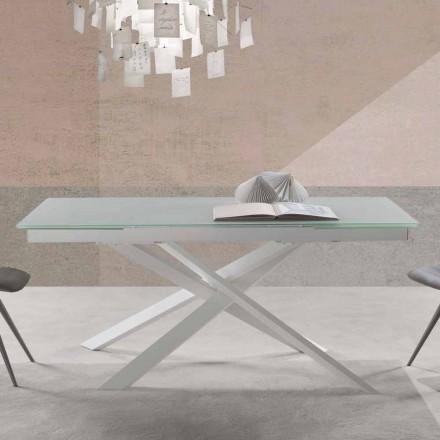 Ausziehbar Esstisch aus Glas in modernem Design - Marliana