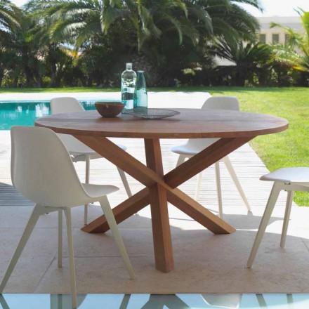 Runder Gartentisch aus Magahoniholz Brigde von Talenti