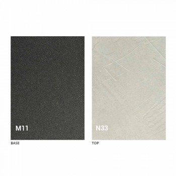 Ausziehbarer Esstisch bis 240 cm aus Metall und Melaminholz - Pitogoro
