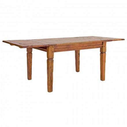 Klassischer ausziehbarer Tisch Bis zu 290 cm in Massivholz Homemotion - Carbo
