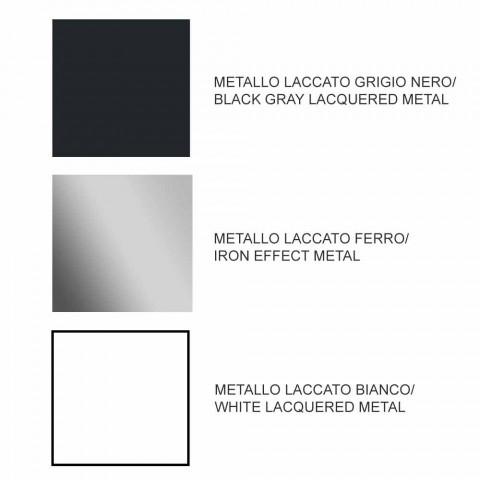 Ausziehbarer Esstisch Bis zu 294 cm in Gres und Metall Made in Italy - Nuzzio