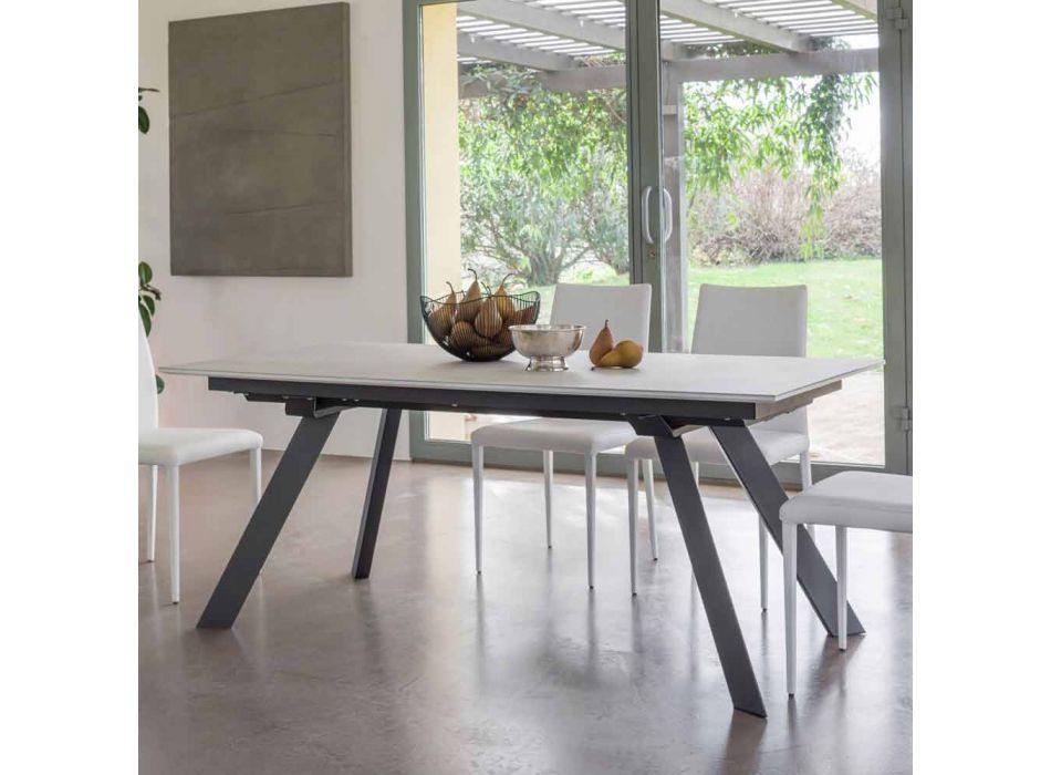 Ausziehbarer Esstisch Keramikplatte bis zu 2,8 m Made in Italy - Paoluccio