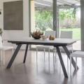 Ausziehbarer Tisch bis zu 2,8 Meter mit Keramikplatte Made in Italy - Paoluccio