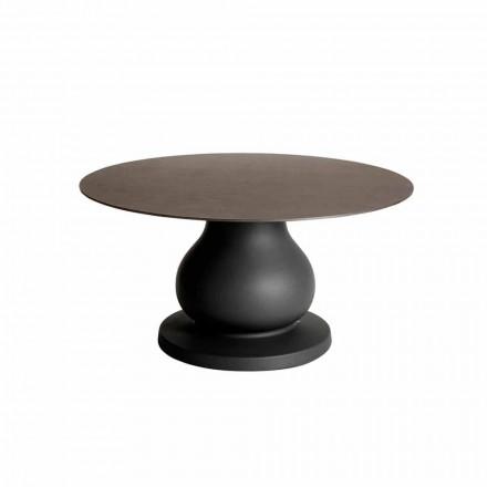 Rundtisch im klassischen Design aus HPL, Durchmesser 140cm - Ottocento