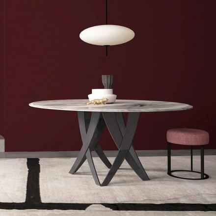 Runder Esstisch ø 140 cm aus Marmor Imperial Grey  – Montereale