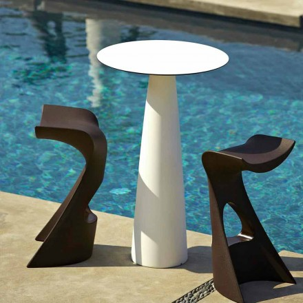 Runder Gartentisch aus Polyethylen und HDL Slide Hoplà (H110)