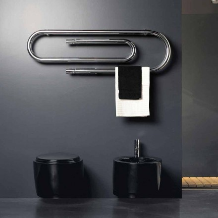 Design Elektroheizkörper Büroklammer verchromt von Scirocco H