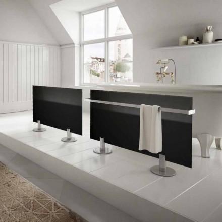 Bodenheizkörper im modernen Design aus schwarzem Sternglas