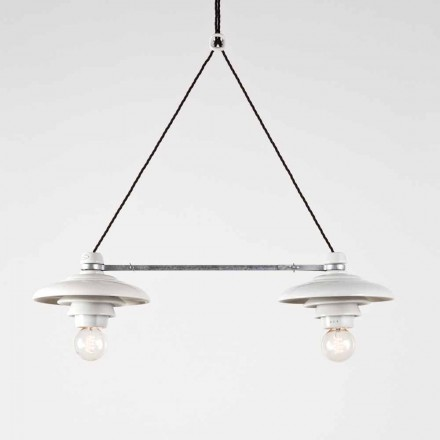 Toscot Battersea Billiardlampe mit 2 Strahler, Made in Toskana