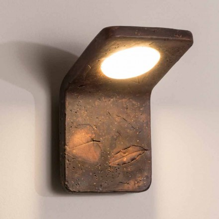 Toscot Vivaldi handgefertigte Wandlampe aus Terrakotta made in Italy