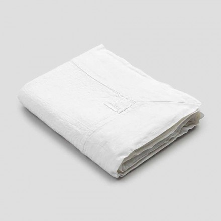 Rechteckige Leinentischdecke mit Kante oder weißer Spitze, Luxusdesign - Davinci