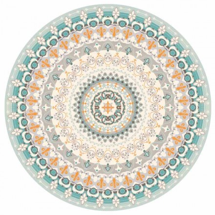 Rundes Design Amerikanisches Tischset aus PVC und Polyester, 6 Stück - Rondeo
