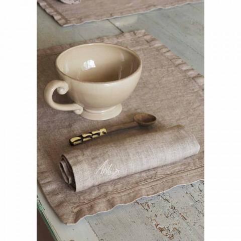 Amerikanische Tischsets und Leinen Frühstücksservietten 2 Stück - Maccanone