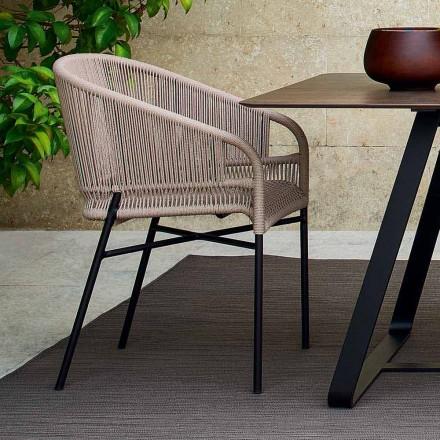 Varaschin hochwertiger Outdoor Sessel handgeflechtet 2 Teile